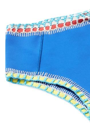 Detail View - Click To Enlarge - Kiini - 'Tuesday' crochet trim high waist bikini bottoms