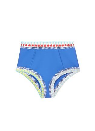 Main View - Click To Enlarge - Kiini - 'Tuesday' crochet trim high waist bikini bottoms