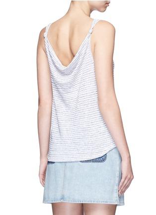 Back View - Click To Enlarge - rag & bone/JEAN - 'Summer Stripe Canyon' linen-cotton tank top