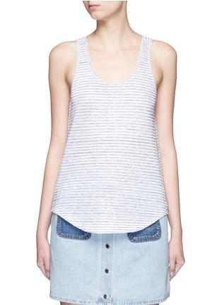 Main View - Click To Enlarge - rag & bone/JEAN - 'Summer Stripe Canyon' linen-cotton tank top