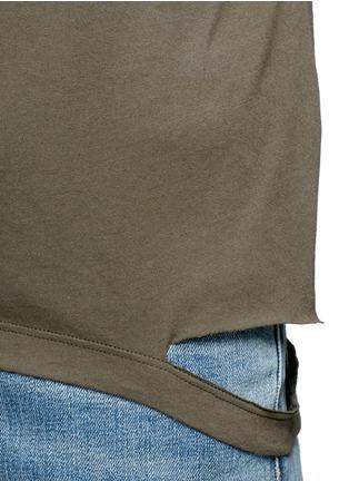 Detail View - Click To Enlarge - Helmut Lang - Cutoff hem pocket jersey T-shirt