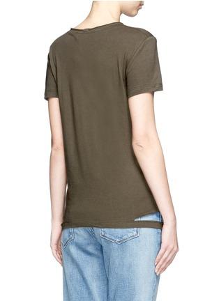 Back View - Click To Enlarge - Helmut Lang - Cutoff hem pocket jersey T-shirt