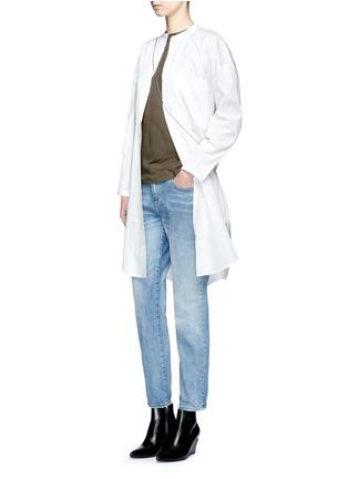 Figure View - Click To Enlarge - Helmut Lang - Cutoff hem pocket jersey T-shirt