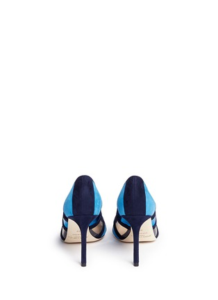 Back View - Click To Enlarge - Jimmy Choo - 'Romy' mirror leather suede panel pumps