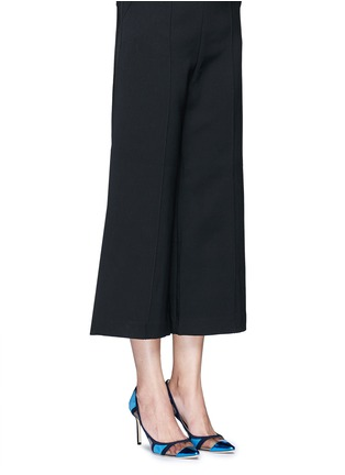 Figure View - Click To Enlarge - Jimmy Choo - 'Romy' mirror leather suede panel pumps