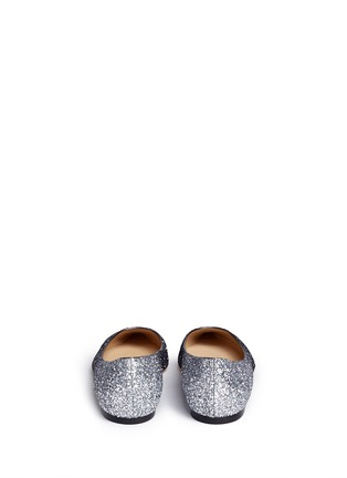 Back View - Click To Enlarge - Jimmy Choo - 'Romy' dégradé coarse glitter skimmer flats
