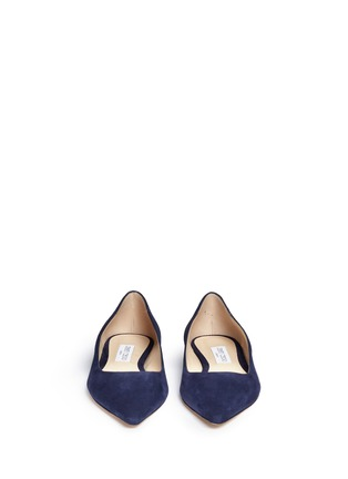 Front View - Click To Enlarge - Jimmy Choo - 'Romy' suede flats