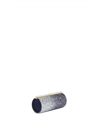 Front View - Click To Enlarge - Jimmy Choo - 'Trinket' dégradé coarse glitter cylinder clutch
