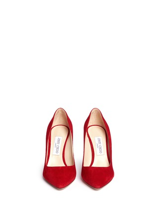 Front View - Click To Enlarge - JIMMY CHOO - 'Romy 85' suede pumps