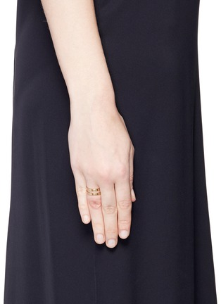 Figure View - Click To Enlarge - REPOSSI - 'Berbère' 18k rose gold two row ring