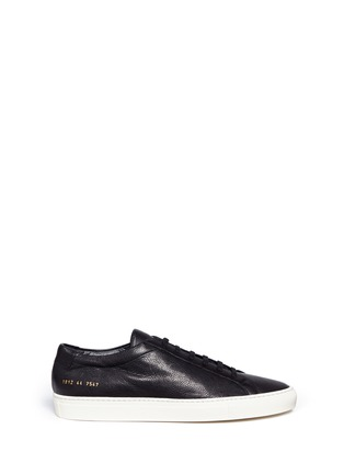 Main View - Click To Enlarge - Common Projects - 'Original Achilles' nubuck leather sneakers