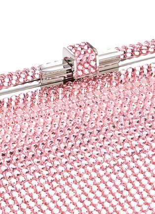 Detail View - Click To Enlarge - Judith Leiber - 'Slide Lock' crystal pavé minaudière
