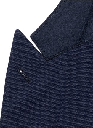 Detail View - Click To Enlarge - Armani Collezioni - Virgin wool double breasted suit