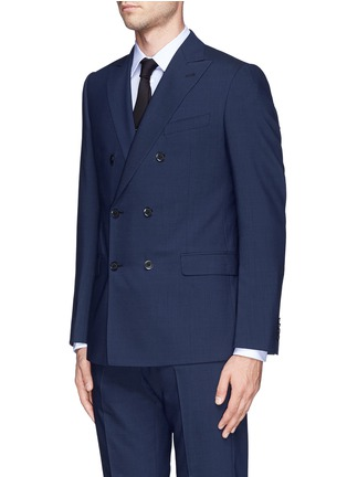 Front View - Click To Enlarge - Armani Collezioni - Virgin wool double breasted suit