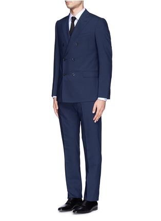 Figure View - Click To Enlarge - Armani Collezioni - Virgin wool double breasted suit