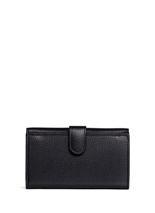 Back View - Click To Enlarge - Alexander McQueen - Skull clasp leather French wallet