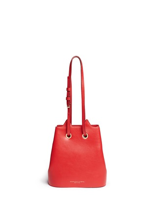 Back View - Click To Enlarge - Charlotte Olympia - 'Feline' catface calfskin leather bucket bag