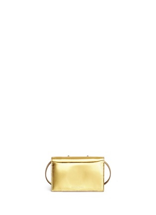 Back View - Click To Enlarge - Charlotte Olympia - 'Feline' metallic leather crossbody bag