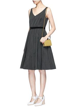 Figure View - Click To Enlarge - Charlotte Olympia - 'Feline' metallic leather crossbody bag