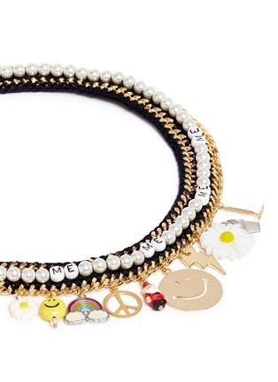 Detail View - Click To Enlarge - Venessa Arizaga - 'Glowing Garden' necklace