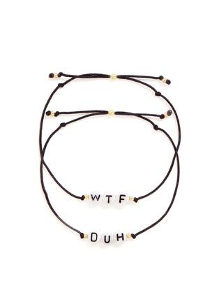 Main View - Click To Enlarge - Venessa Arizaga - 'WTF/DUH' bracelet set