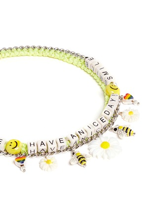 Detail View - Click To Enlarge - Venessa Arizaga - 'Have A Nice Day' necklace