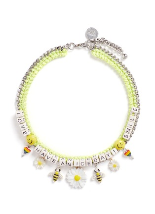 Main View - Click To Enlarge - Venessa Arizaga - 'Have A Nice Day' necklace