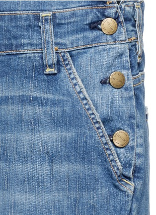 Detail View - Click To Enlarge - Current/Elliott - 'The Charley' distressed denim overalls