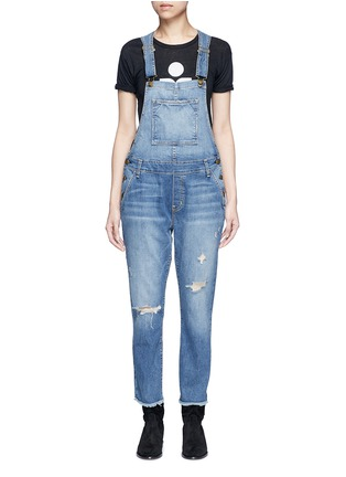 Main View - Click To Enlarge - Current/Elliott - 'The Charley' distressed denim overalls