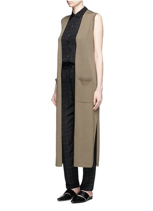Figure View - Click To Enlarge - Theory - 'Yarine' tile print silk sleeveless shirt