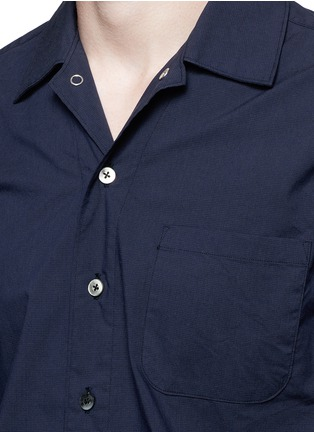 Detail View - Click To Enlarge - nanamica - Spread collar short sleeve wind shirt