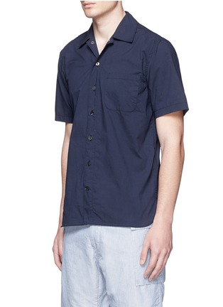 Front View - Click To Enlarge - nanamica - Spread collar short sleeve wind shirt
