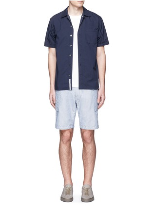 Figure View - Click To Enlarge - nanamica - Spread collar short sleeve wind shirt