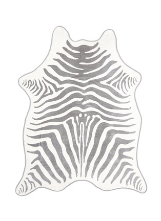 Detail View - Click To Enlarge - Maslin & Co - Zebra stripe jacquard beach towel and leather backpack carrier set