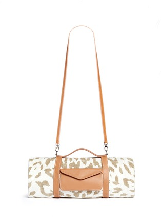 Main View - Click To Enlarge - Maslin & Co - Jaguar jacquard beach towel and leather carrier set