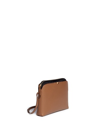 Front View - Click To Enlarge - The Row - 'Multi-pouch' leather nylon shoulder bag