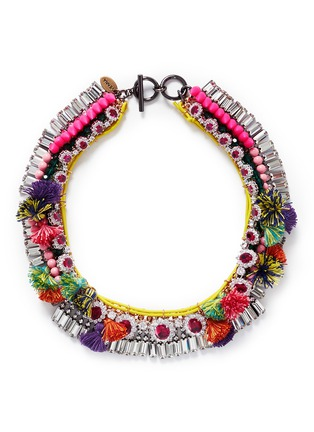 Main View - Click To Enlarge - VENNA - Diana jewel pompom chain collar necklace