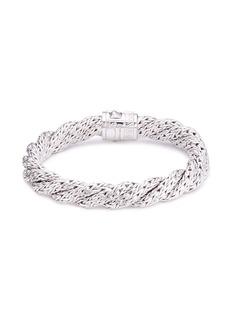 John Hardy Diamond silver twist medium woven chain bracelet