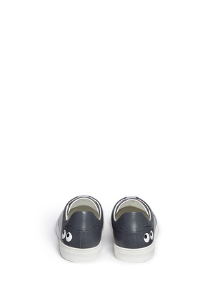 Back View - Click To Enlarge - Anya Hindmarch - 'Eyes' leather tennis shoes