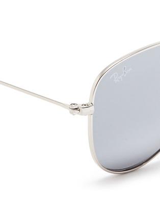 Detail View - Click To Enlarge - Ray-Ban - 'Aviator Junior' metal mirror sunglasses