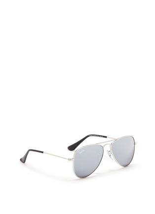 Figure View - Click To Enlarge - Ray-Ban - 'Aviator Junior' metal mirror sunglasses