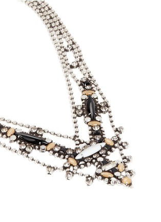 Detail View - Click To Enlarge - Dannijo - 'Basel' Swarovski crystal bead chain necklace