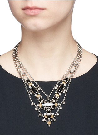 Figure View - Click To Enlarge - Dannijo - 'Basel' Swarovski crystal bead chain necklace