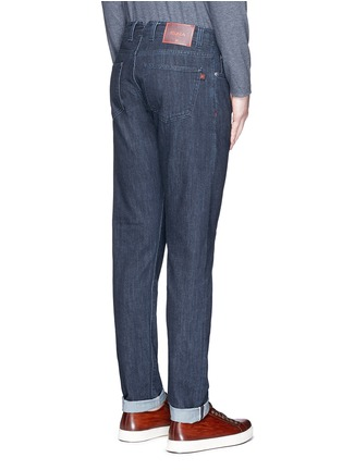 Back View - Click To Enlarge - ISAIA - Logo charm stretch selvedge jeans