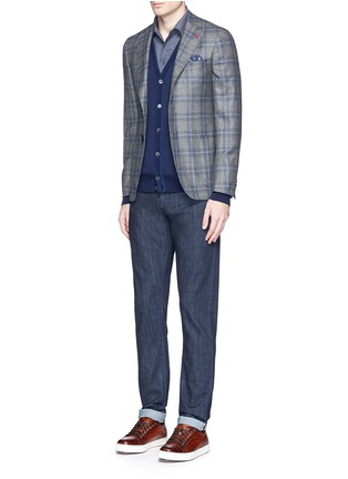 Figure View - Click To Enlarge - ISAIA - Logo charm stretch selvedge jeans