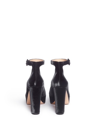 Back View - Click To Enlarge - Gianvito Rossi - 'Sherry' velvet platform pumps