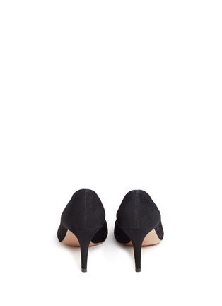 Back View - Click To Enlarge - GIANVITO ROSSI - 'Gianvito 70' suede pumps