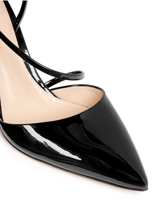 Detail View - Click To Enlarge - Gianvito Rossi - 'Carlyle' strap patent leather pumps