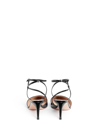 Back View - Click To Enlarge - Gianvito Rossi - 'Carlyle' strap patent leather pumps
