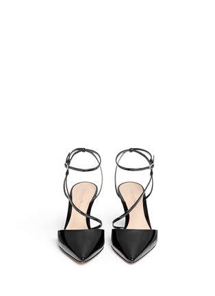 Front View - Click To Enlarge - Gianvito Rossi - 'Carlyle' strap patent leather pumps